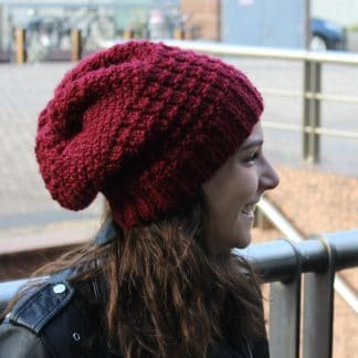 tutorial to knit a souchy beanie hat