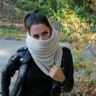 how to knit a snood in the round