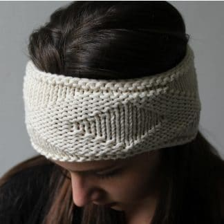 headband to knit with lozenges and easy knit pattern
