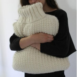 knit cushion cover with texture stitch