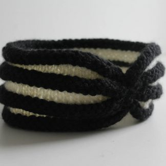 knit and purl vintage black and white headband