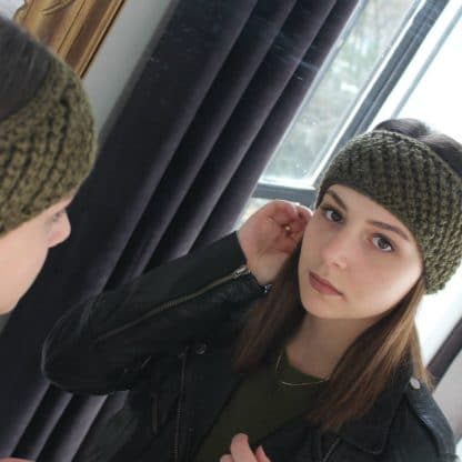worsted knit turban headband pattern