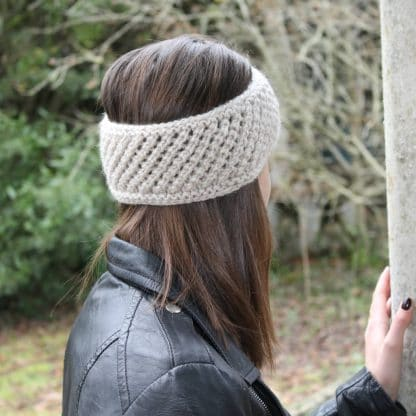 diy knit easy turban headband