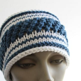 pattern to knit a headband mariniere stripes