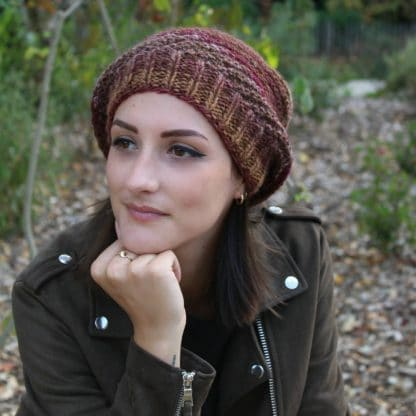 beanie hat to knit and wear slouchy with a free pattern