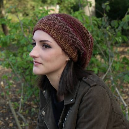 free knit pattern to handknit a beanie hat